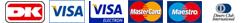 Hos Premiumsport modtager vi følgende betalingskort: Dankort, Visakort, MasterCard, Maestro og Diners